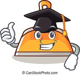 Graduation dustpan character cartoon style