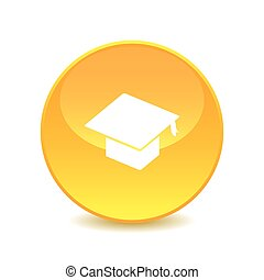 graduation , graduation icon on white background , Vector.