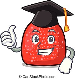 Graduation gumdrop character cartoon style vector ...