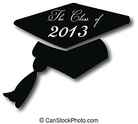 Graduation hat 2013 to congrats to students