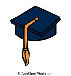 graduation hat cap icon vector illustration.