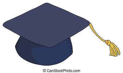 graduation hat - a beautiful drawing of a graduation hat