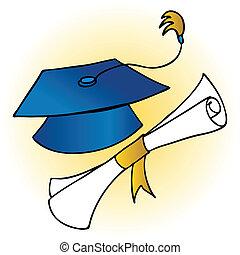 Graduation Hat Diploma