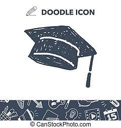 graduation hat doodle