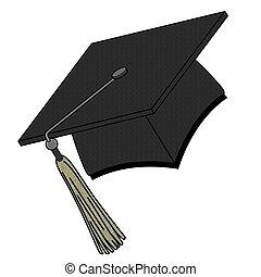 Graduation Hat - Graduation hat isolated on white