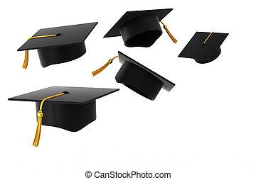 Graduation hat on white background - Graduation Hat Fly...