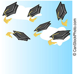 graduation hat or cap