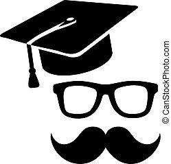 Graduation hat professor