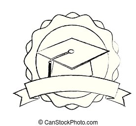 graduation hat school success emblem