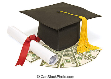 Graduation Hat with Money
