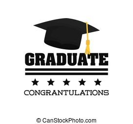 Graduation icon design - Graduation concept with icon...
