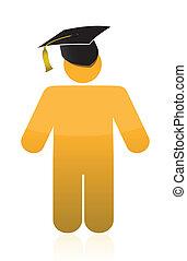 graduation icon illustration design