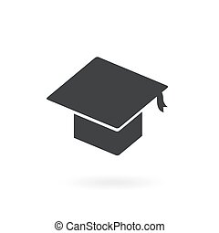 graduation icon on white background , Vector.