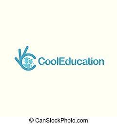 Graduation icon. Students with hats. Ok symbol, Okay vector logo, high quality