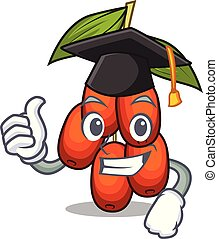 Graduation jujube fruit isolated with the cartoon vector illustration
