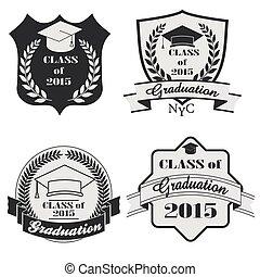 Graduation labels set - vector