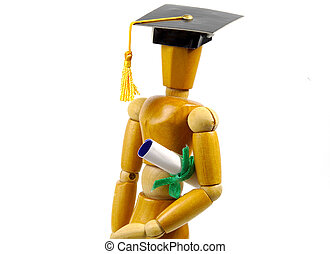 Mannequin With Cap and Diploma