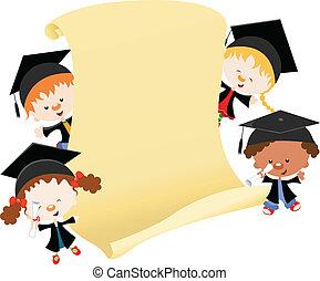 Graduation Message - Kids celebrating graduation