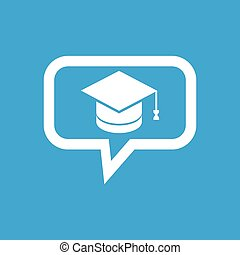 Graduation message icon