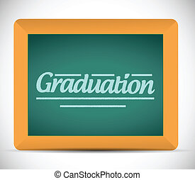graduation message written on a chalkboard