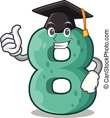 Graduation number house eight the shaped character