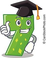 Graduation number seven sign on door cartoon
