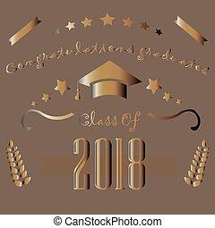 Graduation of Year 2018. Graduation Poster