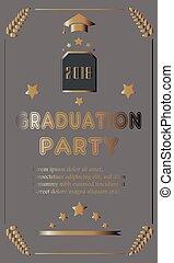 Graduation of Year 2018. vector Illustration
