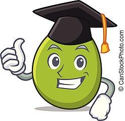 Graduation olive character cartoon style