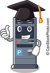 Graduation parking vending machine the cartoon shape