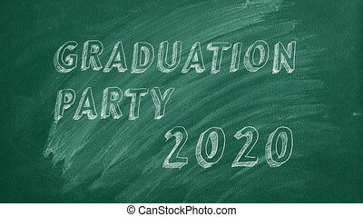 "Graduation party. 2020. - Hand drawing and animated text ""..."