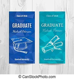 Graduation party invitation card. Graduation party flyer.