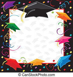 Graduation Party Invitation - Colorful Graduation Invitation...