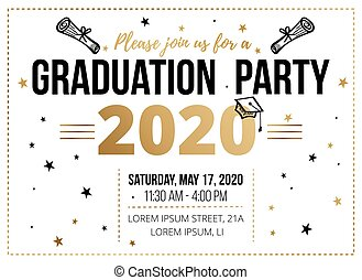 Graduation party invitation design template