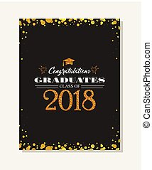Graduation party vector template invitation to the traditional ceremony, college, university or high school student party. invitation , poster or banner template.