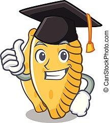 Graduation pastel character cartoon style vector ...
