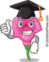 Graduation petunia flowers on the stalk cartoons vector illustration