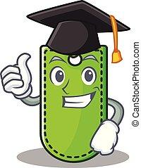 Graduation price tag character cartoon