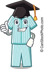 Graduation pyjamas in the a mascot shape