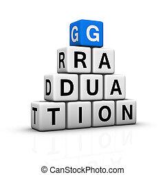 graduation pyramid (blue-white cubes crossword series)