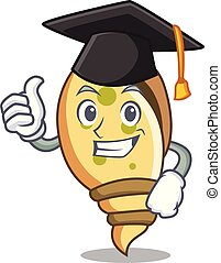 Graduation sea shell character cartoon