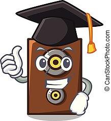 Graduation speaker character cartoon style