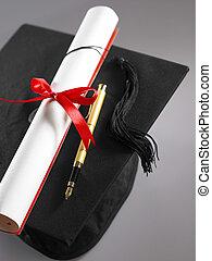 graduation - stock imageof Graduation cap and diploma