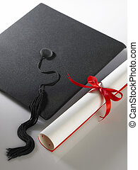 graduation - stock imageof Graduation cap and diploma