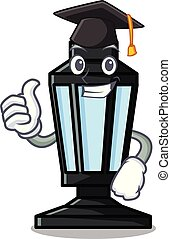 Graduation street lamp character cartoon