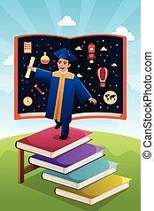 Graduation Student - A vector illustration of graduation...