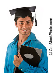 Graduation student - Portrait of an attractive young man...