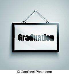 graduation text sign