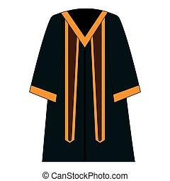 graduation toga isolated icon vector illustration design