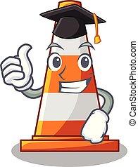 Graduation traffic cone on Made in cartoon